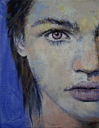 Mod Paintings - Violet by Michael Creese
