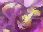 Subtle Digital Art Posters - Violet Summer Pastel Abstract Poster by Alexander Butler