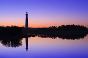 Jerseyshore Photo Originals - Violet Sunset Reflections by Michael Ver Sprill