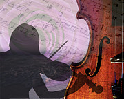 Violin Digital Art - Violin-2 by David Brown