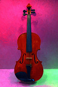 Violin Digital Art Metal Prints - Violin - 20130111 v1 Metal Print by Wingsdomain Art and Photography