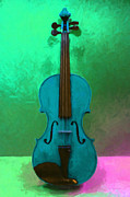 Pop Music Prints - Violin - 20130111 v2 Print by Wingsdomain Art and Photography