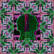 Pop Music Prints - Violin Abstract Window - 20130128v2 Print by Wingsdomain Art and Photography