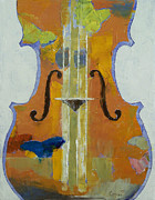 Violine Posters - Violin Butterflies Poster by Michael Creese