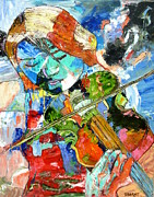 Passionate Paintings - Violin Fantasy Two by John Barney