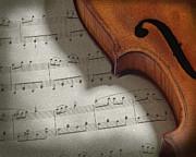 Violin Print by Krasimir Tolev