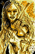 Violin Digital Art - Violin Memory by Sladjana Endt