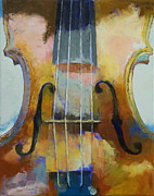 Violine Posters - Violin Painting Poster by Michael Creese