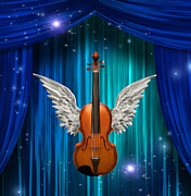 Violin Digital Art - Violin with wings  by Bruce Rolff