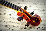 Popular Music Prints - Violine Print by Chevy Fleet