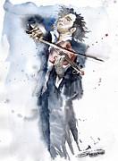 Violine Player 1 Print by Yuriy  Shevchuk