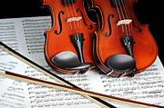 Violin Bows Violin Bows Prints - Violins in Search of a Master Print by Kriss Russell