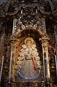 Iconography Photos - Virgen del Rocio Reredos in Seville Cathedral by Artur Bogacki