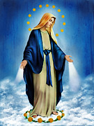 Virgin Mary Digital Art - Virgen Milagrosa by Bibi Romer
