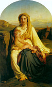 Christ Child Digital Art Prints - Virgin and Child Print by Paul  Delaroche