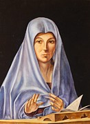 Devotional Paintings - Virgin Annunciate by Bellacopiadarte Artworks