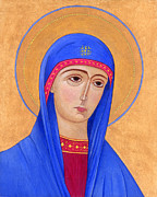 Orthodox Paintings - Virgin Mary 1 by Jacqueline Savidge