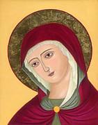 Orthodox Paintings - Virgin Mary 2 by Jacqueline Savidge