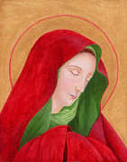 Orthodox Paintings - Virgin Mary 3 by Jacqueline Savidge