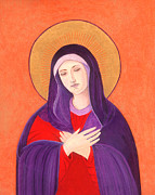 Orthodox Paintings - Virgin Mary 4 by Jacqueline Savidge