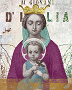 Madonna Digital Art Originals - Virgin Mary and Baby Jesus DItalia by David Reyna