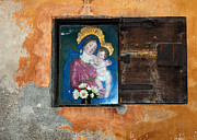 Jesus Christ Icon Prints - Virgin Mary and Baby Jesus in Volterra in Italy Print by Judith  Flacke