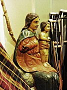 Virgin Mary Metal Prints - Virgin Mary and Crutches Metal Print by Sarah Loft