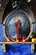 Devotional Art Photo Posters - Virgin Mary Grotto in Rome Poster by Angela Bonilla
