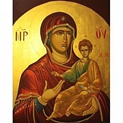 Russian Orthodox Painting Originals - Virgin Mary Icons by Marian Moncea