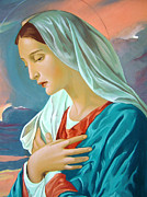Catholic Art Painting Originals - Virgin Mary by Janeta Todorova
