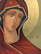 Orthodox Painting Prints - Virgin Mary Print by Larisa Ivakina Clevenger