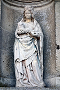 Old Wall Photo Prints - Virgin Mary with Child Print by Olivier Le Queinec