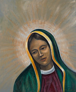 Virgen Mary Framed Prints - Virgin of Guadalupe Framed Print by Birgit Seeger-Brooks