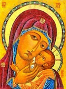 Christmas Prints - Virgin of Korsun Print by Dragica  Micki Fortuna