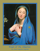 Madonna Digital Art - Virgin Of The Adoption Poster by Jean Auguste Dominique Ingress