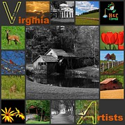 Covered Bridge Mixed Media Prints - Virginia Artist Logo entry Print by Living Waters Photography