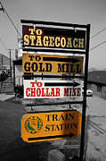 Miners Ghost Photos - Virginia City Attractions by Cheryl Young