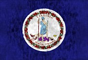 Virginia Digital Art Prints - Virginia Flag Print by World Art Prints And Designs