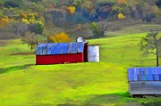 Country Scenes Metal Prints - Virginia Hills And Barns Metal Print by Jan Amiss Photography
