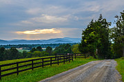 Wine Tour Framed Prints - Virginia Road at Sunset Framed Print by Alex Zorychta
