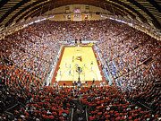 Basketball Posters Prints - Virginia Tech Hokies Cassell Coliseum Print by Replay Photos