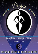 Sign Of Zodiac Digital Art - Virgo by Fabian Roessler