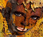 Haunting Mixed Media - Virtual face in grafitti by Yvon -aka- Yanieck  Mariani