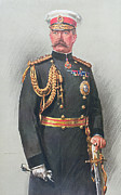 Gloves Drawings - Viscount Kitchener of Khartoum by Walter Wallor Caffyn