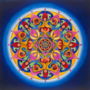 Harem Girl Framed Prints - Vision - Brow Chakra Mandala Framed Print by Vikki Reed