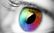 Eye Photo Prints - Vision of Color Print by Sanely Great