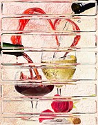 Pouring Wine Digital Art Posters - Vision Of Love Poster by Liane Wright