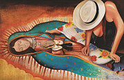 Our Lady Of Guadalupe Painting Originals - Vision of our Lady of Guadalupe by William T Templeton