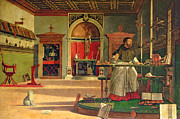 St. Augustine Paintings - Vision of St. Augustine by Vittore Carpaccio