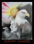 Bald Eagles Pastels Posters - Vision Quest 2 Poster by Brooks Garten Hauschild